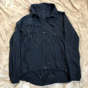 Lululemon Black Zip-up Light Rain Jacket Coat 8